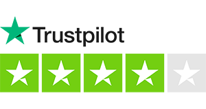 4 out of 5 stars on trustpilot