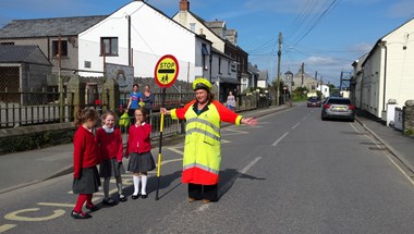 When Delabole Primary School in Cornwall found itself at risk of losing its lollipop lady, it wasn't just parents and teachers who were concerned about children's safety.